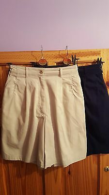 Vintage Clothing M&S Ladies Shorts Size 10