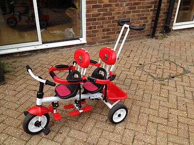 Amie and Gracie Twin Trike/Tricycle (Red)