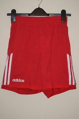 Bnwt Adidas Red & White Perforated Basketball Shorts Uk Mens 30""