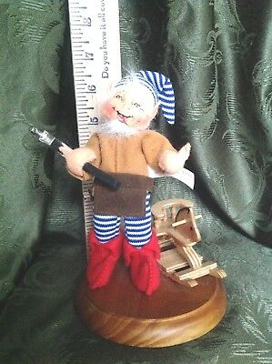 AnnaLee Mobility Doll Working Elf On Wood Base
