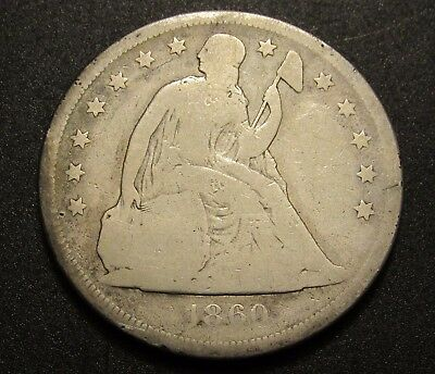***SEATED DOLLAR*** 1860-O Liberty Seated Silver Dollar! No Motto