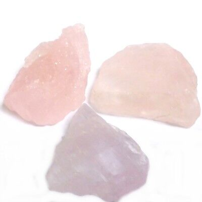 NATURAL UNHEATED MORGANITE GEMSTONE ROUGH  3 pieces LARGE LOT