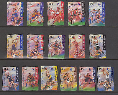 Stamps Australia 1996 AFL Centenary VFU set 16