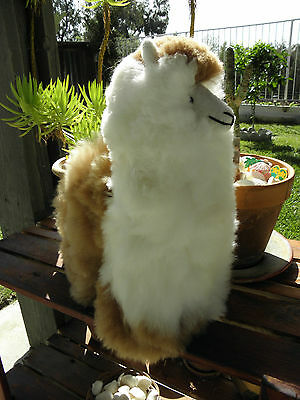 "New Handmade By Our Artisan In Peru 18 - 19"" Standing Plush Alpaca #32009"