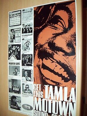 TAMLA MOTOWN - 1966 Original Advertising Poster,Wonder,Supremes,Gaye,Temptations
