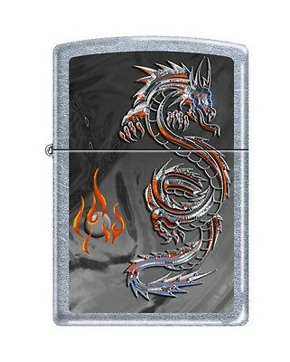 Zippo 3538, Dragon-Flame, Street Chrome Finish Lighter, Full Size