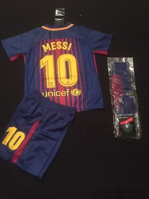 FC Barcelona Kids Youth Jersey And Shorts 3-4 Years + Socks