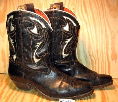 Mid 1950's Vintage GODING Shorty Cowboy Boots Cloth Pulls Larger Size MAKE OFFER