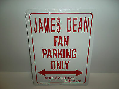 James Dean Fan Parking Only Metal Sign All Others Will Be Towed City Ord #34263