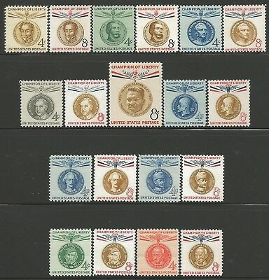 US Stamps 1950's-60s Champions of Liberty collection 19 MINT nh items $$