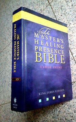 The Master's Healing Presence Bible, King James Version, Large Print RARE !