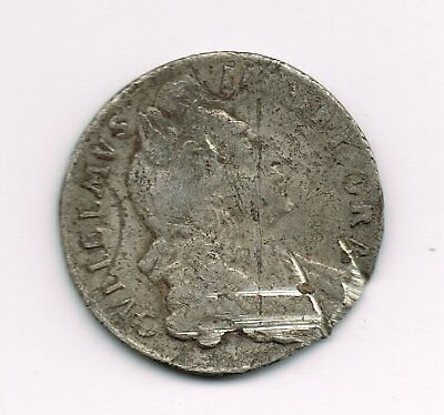 1697 William III sterling silver sixpence 6d coin - 2.8g