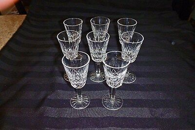 Waterford Lismore Glasses in sets of 2 Sherrys and 2 Cordials