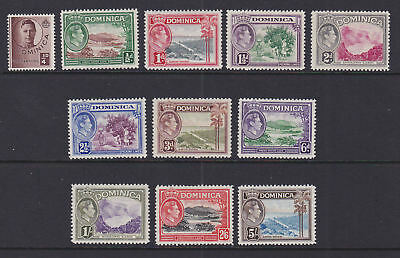 Dominica 1938-47 Mint MLH Part Set Definitives King George VI Local Scenes Bay