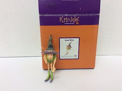 "Dept 56 Krinkles Patience Brewster Halloween ""Gourd Witch"" Mini Ornament"