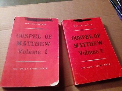 Gospel of Matthew Volume 1 & 2 William Barclay 1963 the daily study bible