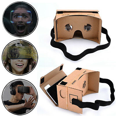 DIY Cardboard Quality VR Virtual Reality 3D Glasses For iPhone Smartphone Newest