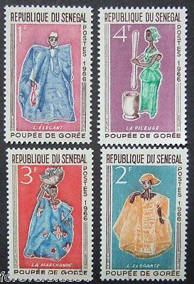 Senegal 1966 SG 315-318 (Sc 261-4) MNH - Dolls of Goree Costumes - combine post