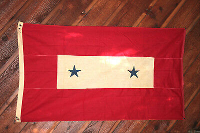 Wwii 2 X 4 Foot, 2 Star Son In Service Flag Very Rare And In Good Condition