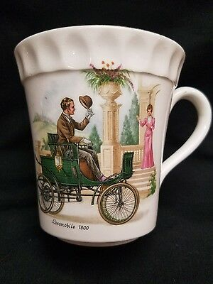 Vintage Crown Staffordshire England Bone China Coffee Cup Locomobile 1900