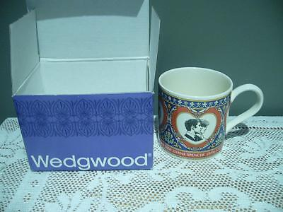 Wedgwood China Charles & Diana Collectable Wedding Mug In Box - Vintage - Vgc