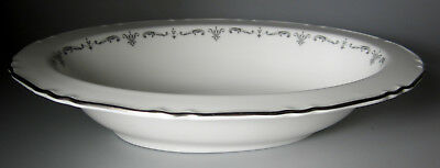"""Royal Worcester Silver Chantilly OVAL VEGETABLE BOWL 10 1/2""""  PERFECT"""