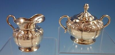Desert Rose by Sanborns Mexican Sterling Silver Sugar & Creamer 2pc Set (#1706)