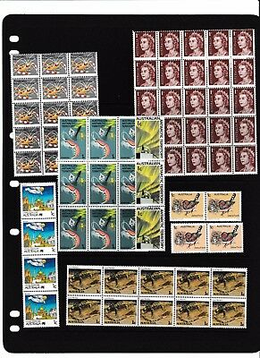 1960s AUSTRALIAN EARLY  DECIMAL STAMPS VARIETY'S MUH
