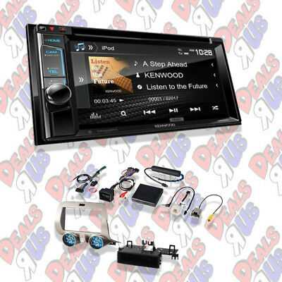 "Kenwood DDX394 In Dash Double Din 6.2"" CD/DVD Receiver Bluetooth & Dash Kit"