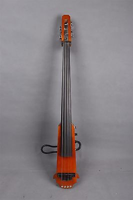 4/4 New Electric Cello Silent Powerful Sound Ebony Part Hand Play#EC13