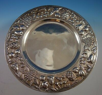 Maciel Mexican Mexico Sterling Silver Fruit Platter #1044-1 Repoussed (#1715)