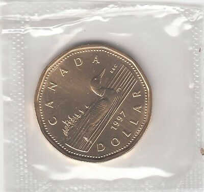 1997 $1 Dollar Loonie UNC From Mint Set