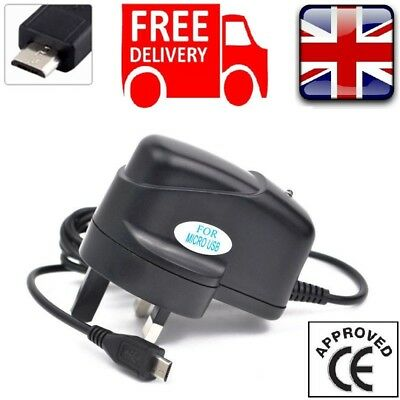 Uk Mains Micro Usb Wall Plug Mobile Phone Charger For Samsung Galaxy S6 S7 Edge+