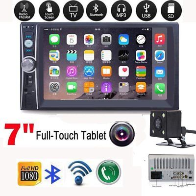"""2DIN 7"""" HD Car Stereo Radio MP5 Player Bluetooth Touch Screen FM USB AUX"""