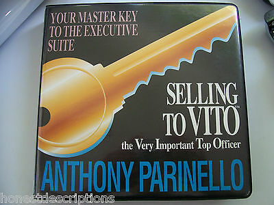 Selling to Vito The Very Important Top Officer Anthony Parinello Audio Tapes EUC