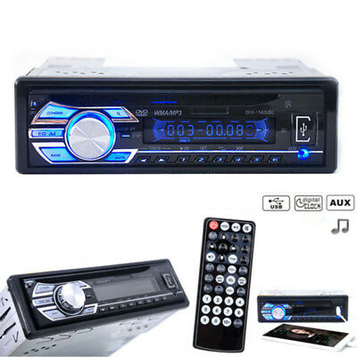 Car Stereo FM Radio CD/USB/LCD/AUX Bluetooth MP3 Player With Remote Control New