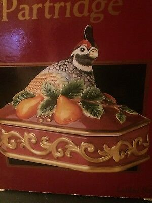 Fitz And Floyd Partridge Christmas Lidded Box New in box