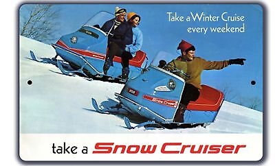 Snow Cruiser vintage style snowmobile wall sign