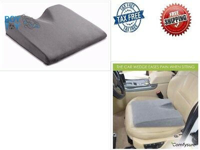Car Seat Wedge Cushion for Lower Back Pain Relief while Driving Memory Foam
