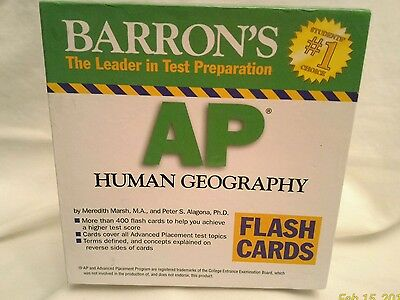 "Barron's AP HUMAN GEOGRAPHY ""Flash Cards"""