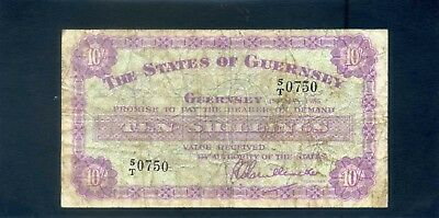 Guernsey 10 Shillings Banknote 1955