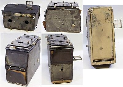 unknown Argentinian Stero plate camera badly damaged