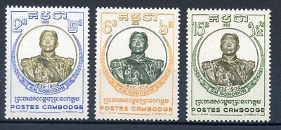 Timbre Colonies Francaises / Cambodge Neuf N° 75/77 ** Roi Norodom