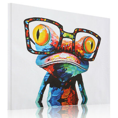 HD Unframed Canvas Abstract Frog Print Kids Room Decor Wall Art Painting Picture
