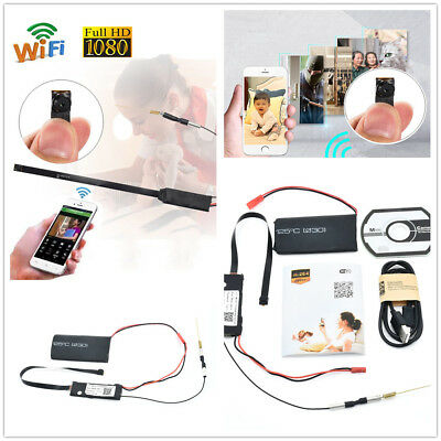 Wireless WiFi Hidden Spy Camera Full HD 1080P DIY Module DV DVR Motion Nanny Cam