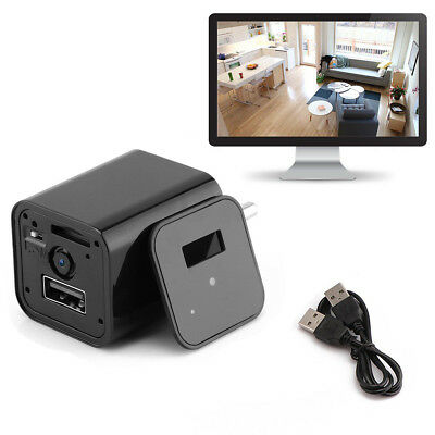 HD 1080P Hidden Spy Camera USB Wall Charger Mini DV Video Motion Detection