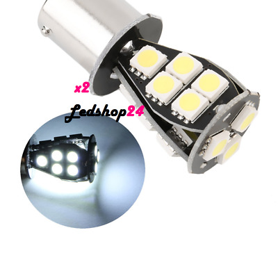 Lampade Led Ba15S 1156 Luci Posizione Stop 18 Smd Bianco Freddo Canbus  **