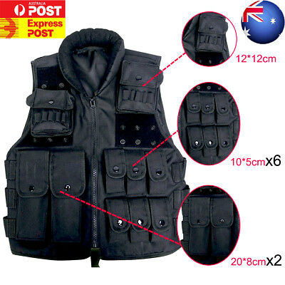 New Black Tactical Assault Vest Outdoor Military Paintball Army Muti-Pocket Vest