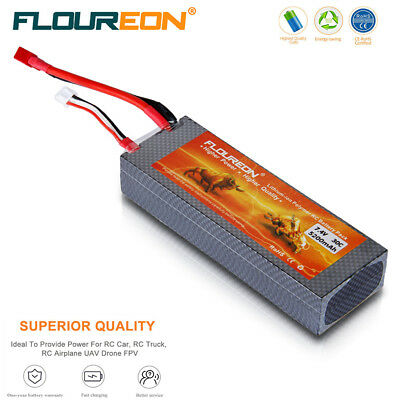2S 7.4V 5200mAh 30C Lipo Battery Deans for RC Airplane Helicopter Car Truck Boat