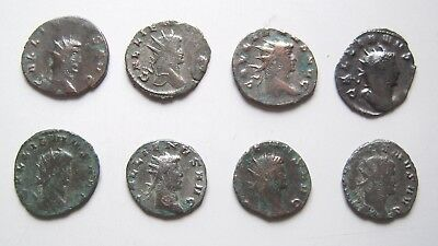 8 BILLON ANTONINIANII. GALLIENUS & CLAUDIUS II. Ref. 1057.